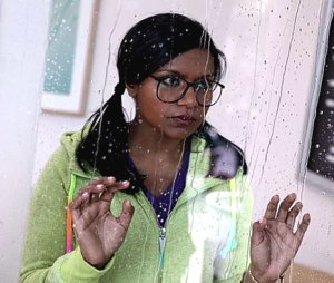 """Mindy Kaling as 'Kelly Kapoor' in the Subtle Sexuality video """"The Girl Next Door"""""""