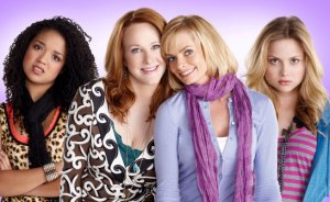 "Aisha Dee as 'Mackenzie Miller', Katie Finneran as 'Nikki Miller', Jaime Pressly as 'Annie Watson' and Kristi Lauren as 'Sophie Watson' in ""I Hate My Teenage Daughter"""