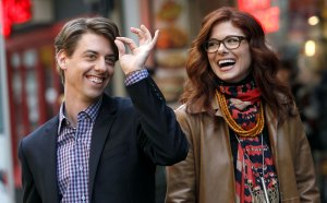 "Christian Borle as 'Tom Levitt' and Debra Messing as 'Julia Houston' in ""Smash"""