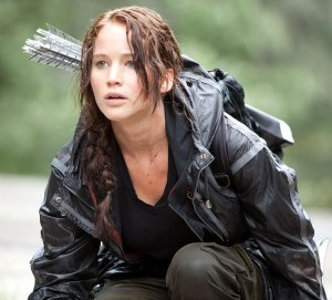 "Jennifer Lawrence as 'Katniss Everdeen' in ""The Hunger Games"""