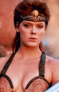 "Brigitte Nielsen as 'Red Sonja' in ""Red Sonja"""