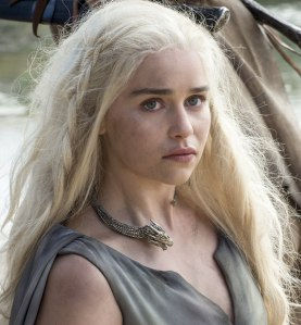 "Emilia Clarke as 'Daenerys Targaryen' in ""Game of Thrones"" (ep #6.1)"