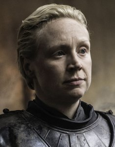 "Gwendoline Christie as 'Brienne of Tarth' in ""Game of Thrones "" (S6)"