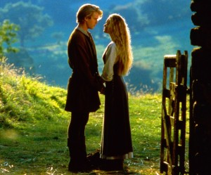 """Cary Elwes as 'Westley' and 'Robin Wright' as Buttercup in """"The Princess Bride"""""""