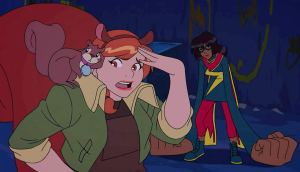 "'Tippy-Toe', 'Squirrel Girl', and 'Ms. Marvel' in ""Marvel Rising: Initiation"""